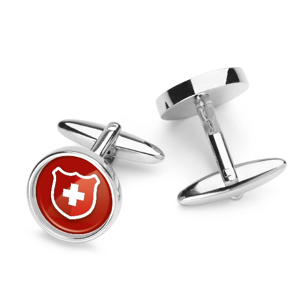 Round Cufflinks in presentation box