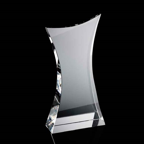 Curved body crystal award