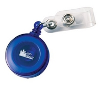Round retractable pass holder